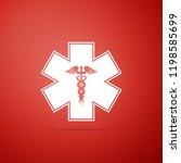 emergency star   medical symbol ... | Shutterstock . vector #1198585699