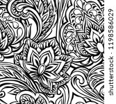 indian ethnic seamless pattern. ... | Shutterstock .eps vector #1198586029
