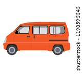 mid size vehicle for carrying... | Shutterstock .eps vector #1198593343