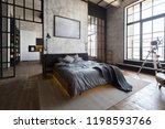 luxury studio apartment with a... | Shutterstock . vector #1198593766