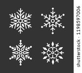 set of snowflakes christmas... | Shutterstock .eps vector #1198597006