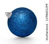 blue christmas ball isolated on ... | Shutterstock . vector #1198601299
