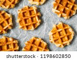 belgian waffles background.... | Shutterstock . vector #1198602850