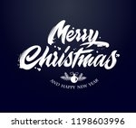 merry christmas and happy new... | Shutterstock .eps vector #1198603996