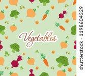 asymmetrical vegan tracery flat | Shutterstock .eps vector #1198604329