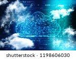 cloud computing  cloud... | Shutterstock . vector #1198606030