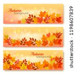 three abstract autumn banners... | Shutterstock .eps vector #1198607839