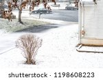view from window on snowstorm ... | Shutterstock . vector #1198608223