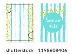 bridal shower set with dots and ... | Shutterstock .eps vector #1198608406