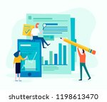 flat design concept of web... | Shutterstock .eps vector #1198613470