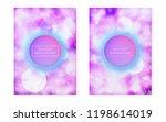 bauhaus cover set with liquid... | Shutterstock .eps vector #1198614019