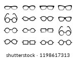 eye glasses icon isolated on... | Shutterstock .eps vector #1198617313