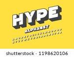 modern font design  alphabet... | Shutterstock .eps vector #1198620106
