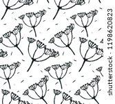 floral vector seamless pattern... | Shutterstock .eps vector #1198620823