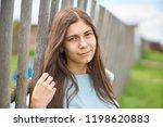 happy young girl smiling...   Shutterstock . vector #1198620883