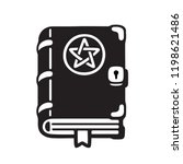 dark magic spell book cartoon... | Shutterstock .eps vector #1198621486