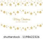 christmas golden decoration... | Shutterstock .eps vector #1198622326