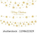 christmas golden decoration... | Shutterstock .eps vector #1198622329