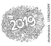 cartoon vector cute doodles...   Shutterstock .eps vector #1198624399
