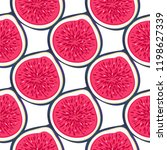 seamless pattern with halves... | Shutterstock .eps vector #1198627339