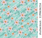 seamless vintage floral pattern ... | Shutterstock .eps vector #1198636216