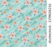 seamless vintage floral pattern ... | Shutterstock .eps vector #1198636216
