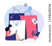online shopping concept... | Shutterstock .eps vector #1198638256