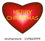 merry christmas made from... | Shutterstock .eps vector #119863999