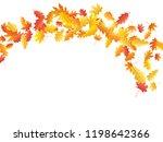 flying oak and maple leaf... | Shutterstock .eps vector #1198642366