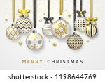 christmas background with... | Shutterstock .eps vector #1198644769