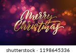 merry christmas lettering and... | Shutterstock .eps vector #1198645336