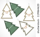 christmas tags | Shutterstock .eps vector #119864620