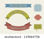 vintage labels over beige... | Shutterstock .eps vector #119864758