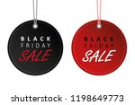 black friday sale black and red ... | Shutterstock .eps vector #1198649773