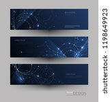 abstract molecules banners set... | Shutterstock .eps vector #1198649923