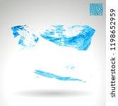 blue brush stroke and texture....   Shutterstock .eps vector #1198652959