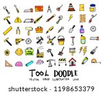 tool doodle color icon line... | Shutterstock .eps vector #1198653379