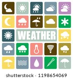 weather icons set | Shutterstock .eps vector #1198654069