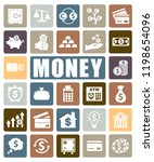 money icons set | Shutterstock .eps vector #1198654096