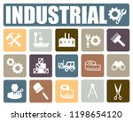 industrial icons set | Shutterstock .eps vector #1198654120