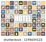hotel icons set | Shutterstock .eps vector #1198654123