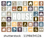 house icons set | Shutterstock .eps vector #1198654126