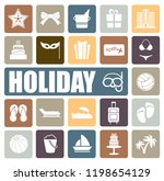 holiday icons set | Shutterstock .eps vector #1198654129