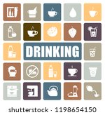 drinking icons set | Shutterstock .eps vector #1198654150