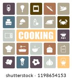 cooking icons set | Shutterstock .eps vector #1198654153