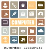 computer icons set | Shutterstock .eps vector #1198654156