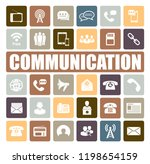 communication icons set | Shutterstock .eps vector #1198654159