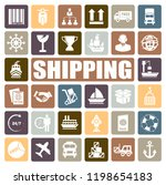 shipping icons set | Shutterstock .eps vector #1198654183