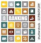 banking icons set | Shutterstock .eps vector #1198654189