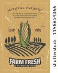 corn harvest  retro style... | Shutterstock .eps vector #1198654366